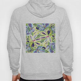 Abstract floral frame Hoody
