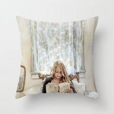 Morning Read Throw Pillow