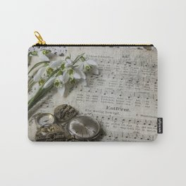Snowdrops and Vintage Watches Carry-All Pouch