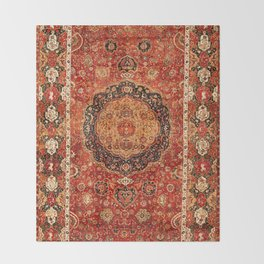 Seley 16th Century Antique Persian Carpet Print Throw Blanket