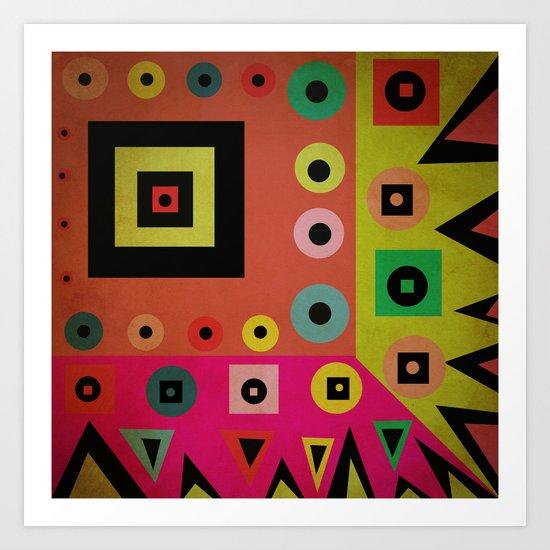 mixed shapes Art Print
