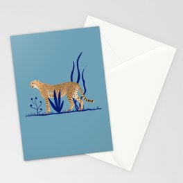 Cheetah number 1 Stationery Cards