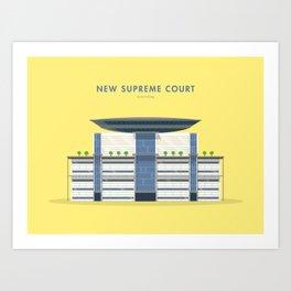 New Supreme Court, Singapore [Building Singapore] Art Print