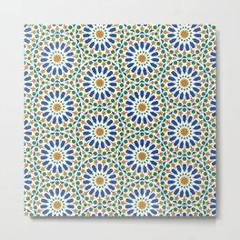 Moroccan Zellige Tile Art Metal Print