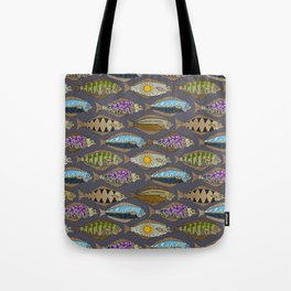 Alaskan halibut dusk Tote Bag