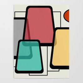 Mid-Century Modern Art Landscape 1.1 Poster