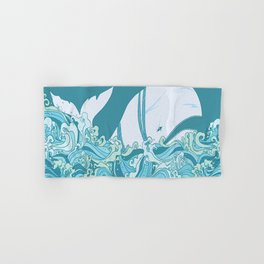 Moby Dick Illustration Hand & Bath Towel