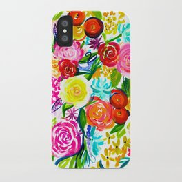 Bright Colorful Floral painting iPhone Case
