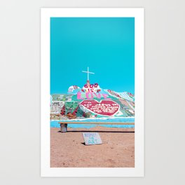 Salvation Mountain: Respect the Art Art Print