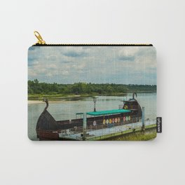 Ship on the river Wisła Carry-All Pouch