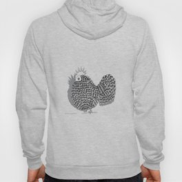 Zentangle  Funky Chicken Illustration Hoody