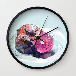 Otter Donut Wall Clock