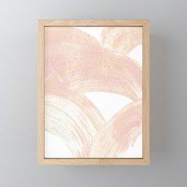 Pink Swipes Framed Mini Art Print