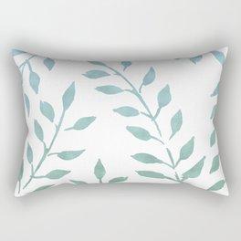 Blue and Green Fronds Rectangular Pillow