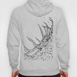 Elk  Dripped Abstract Pollock Style Hoody