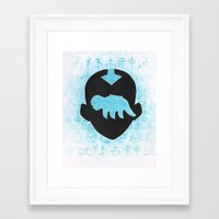 avatar the last airbender Framed Art Prints featuring The Last Airbender by Carmen McCormick