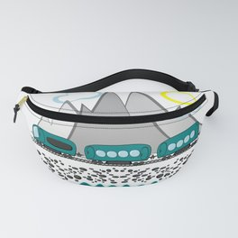Train travel along the sea and mountains Fanny Pack