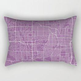 Omaha Map, USA - Purple Rectangular Pillow