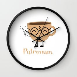 Espresso Patronum Funny T-Shirt Cute Coffee Tee Shirt Wizard Wall Clock