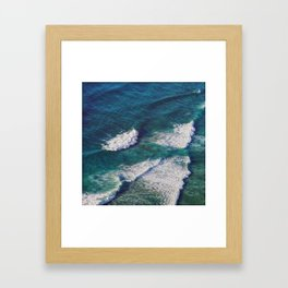 Waves Crashing Framed Art Print