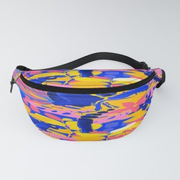 Abstract wild lemurs sitting among the exotic plants Fanny Pack