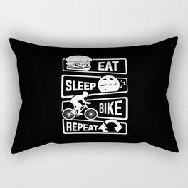 Eat Sleep Bike Repeat - Bicycle Racing Cycling Rectangular Pillow