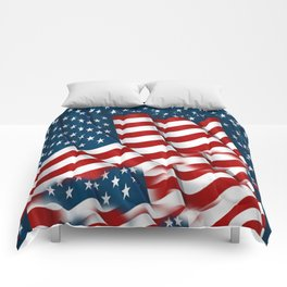 "ORIGINAL  AMERICANA FLAG ART ""STARS N' BARS"" PATTERNS Comforters"