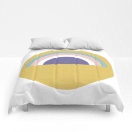 Rainbow and sun Comforters