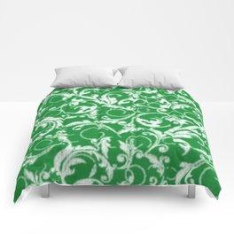 Green Swirls Comforters