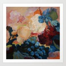 flower, fruid Art Print