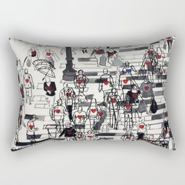 Hearts on the Move Rectangular Pillow