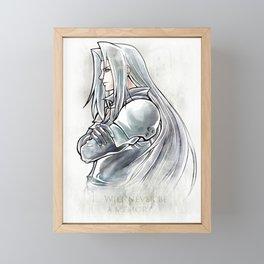 Sephiroth Artwork Final Fantasy VII Framed Mini Art Print