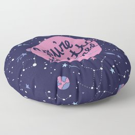 You're Outta this World in Purple Floor Pillow