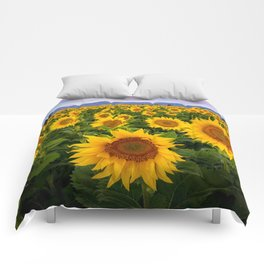 Field of Sunflowers, California Comforters