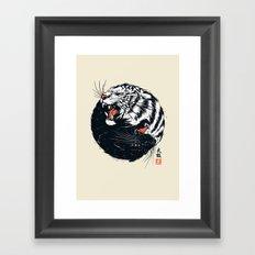Taichi Tiger Framed Art Print