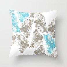 Ginkgo Fossils - Light Throw Pillow