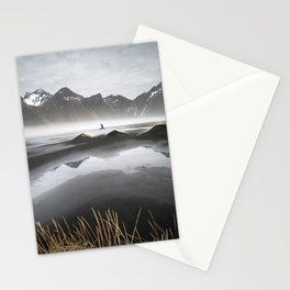 """Excite"" - A Moody Morning (Vestrahorn, Iceland) Stationery Cards"