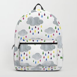 Rainbow Rain Clouds Backpack