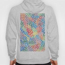 Flowing Rainbow Leaves Pattern Hoody