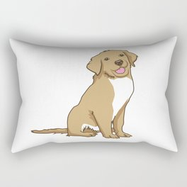 Golden Retriever Puppy Hound Gift Rectangular Pillow
