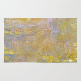 Sea-Roses (Yellow Nirwana) by Claude Monet Rug