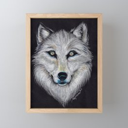 White Wolf Framed Mini Art Print