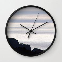 Mediterranean Sea Coastline 1 Wall Clock