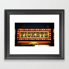 Tickets Framed Art Print
