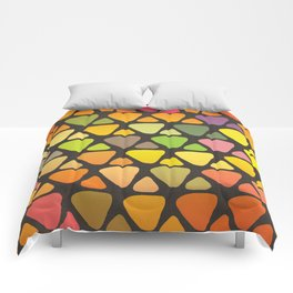 Bright colorful abstract triangles retro pattern Comforters