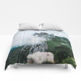 Flower Mountain in Switzerland - Landscape Photography Comforters