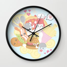 Kawaii Food Wall Clock