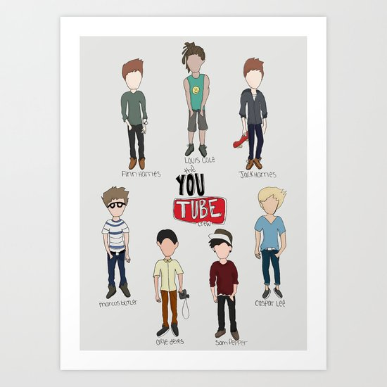 Youtube Boys  Art Print
