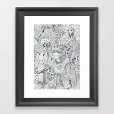 Monsters In My Closet Framed Art Print
