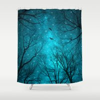 amy pond Shower Curtains featuring Stars Can't Shine Without Darkness  by soaring anchor designs